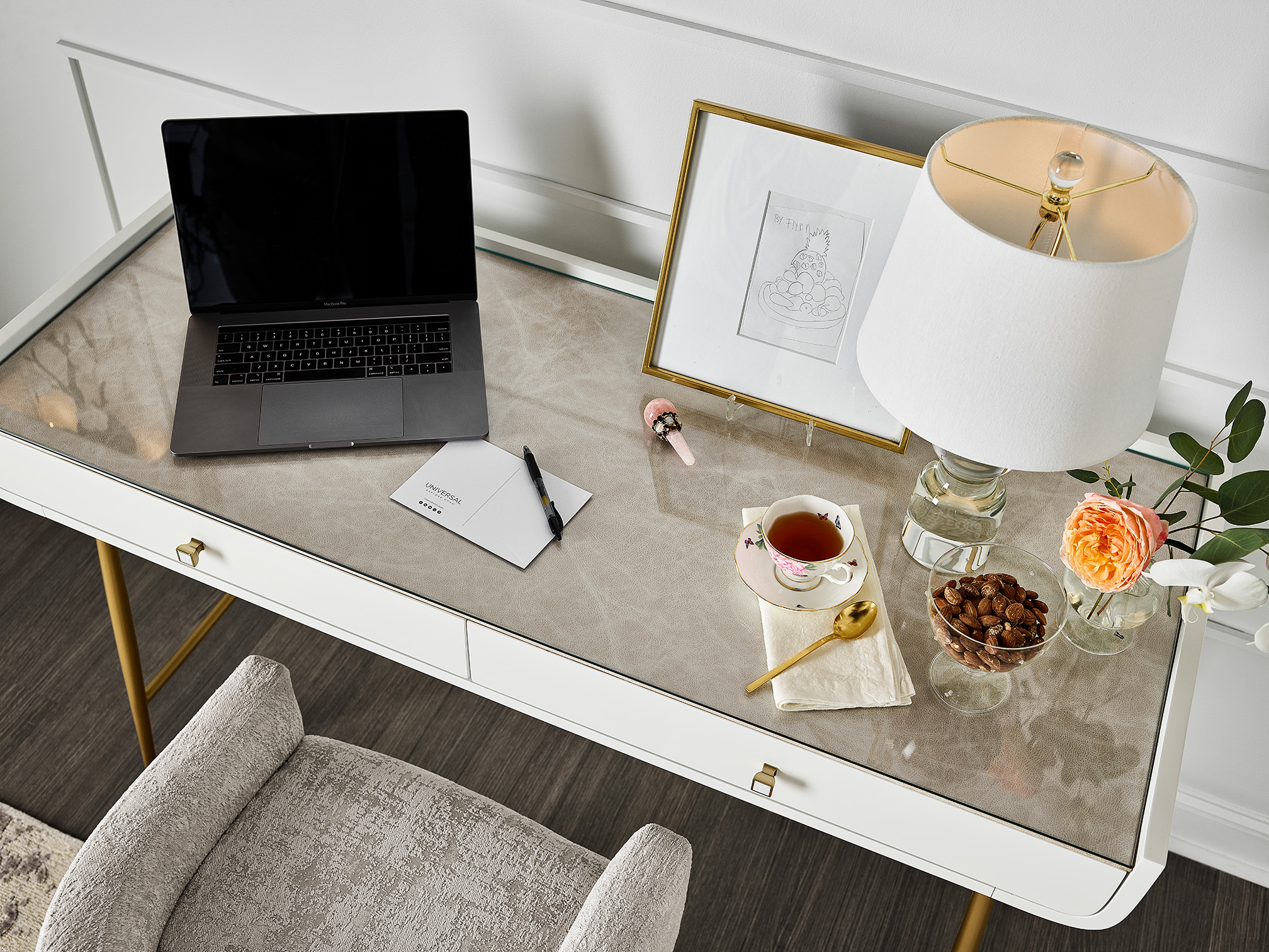 Image of a desk from the Miranda Kerr Home collection
