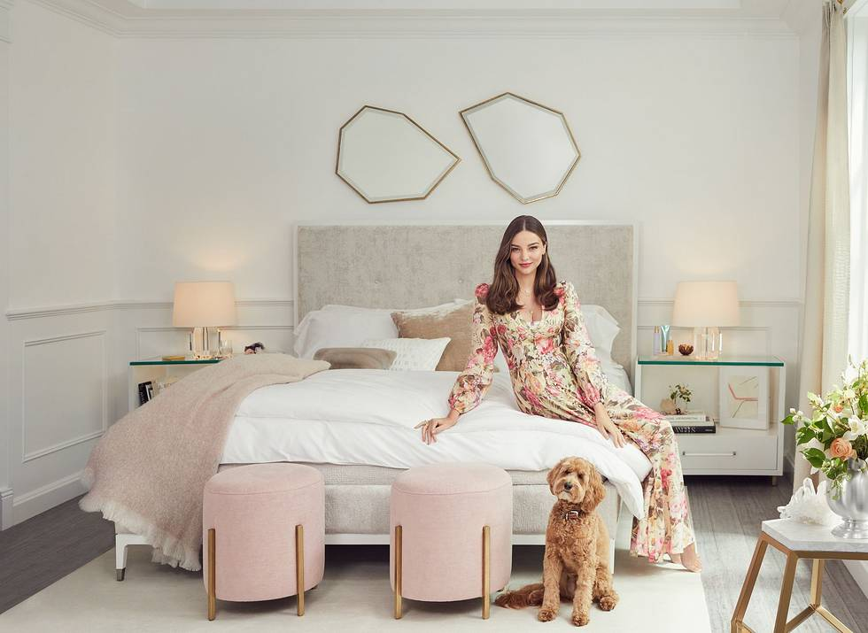 Image of a bed from the Miranda Kerr Home collection