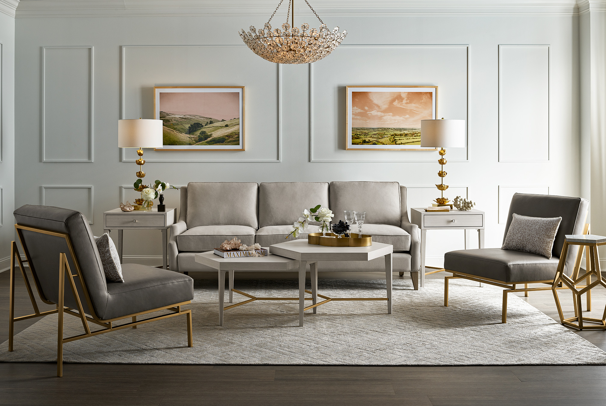 Image of living room furnishings from the Miranda Kerr Home collection