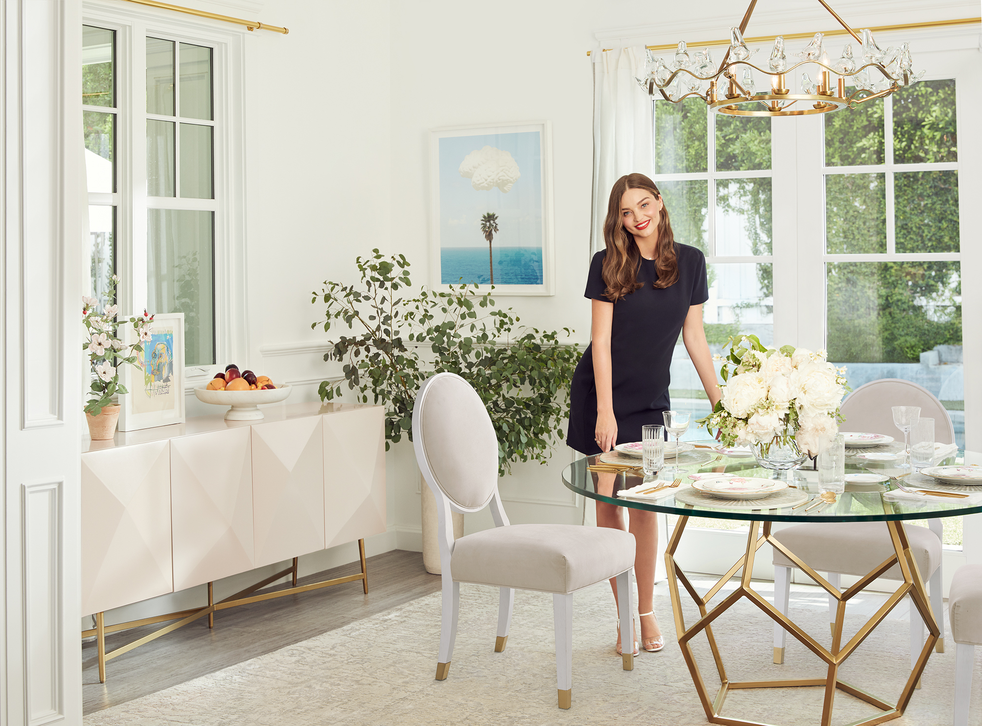 Image of a dining table from the Miranda Kerr Home collection